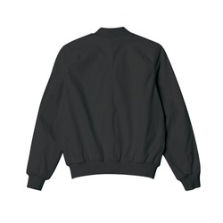 blank jacket bomber black color in back view for mockup template on white background