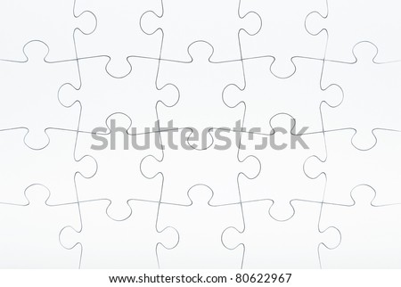 Blank jigsaw puzzle - Business metaphor insert your own image