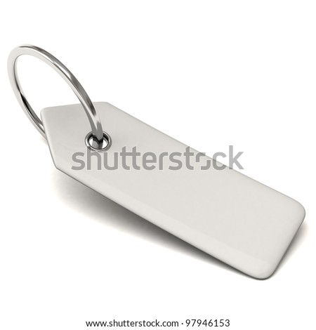 Blank key tag 3d with silver ring