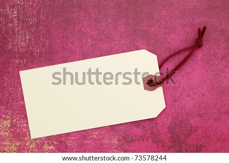 Blank label on wrapping paper
