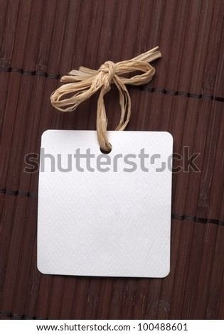 blank label with natural string