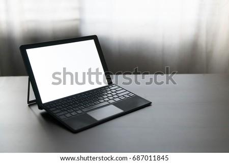 blank laptop screen mock up...