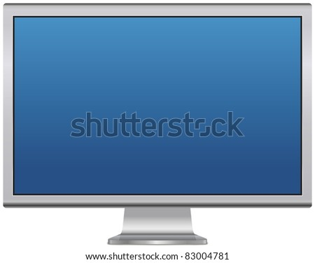 Blank LCD monitor