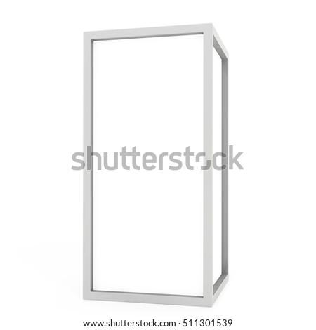 Blank Lightbox On white Background 3D rendering. #511301539