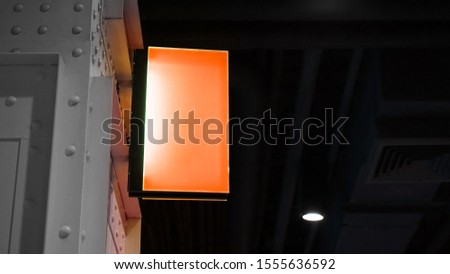 Blank Lightbox Signage hang on wall