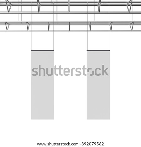 blank long display hanger template