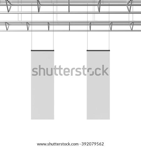 blank long display hanger template