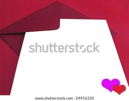 Blank Love Letter Blank love letter - stock