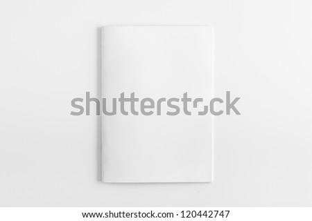 blank magazine isolated on...