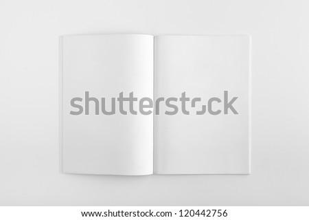Blank Magazine isolated on White Background - stock photo