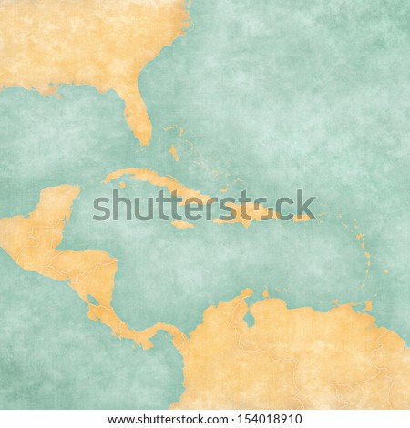 blank map of caribbean and...