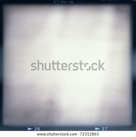 Blank medium format (6x6) film frame with abstract monochrome filling