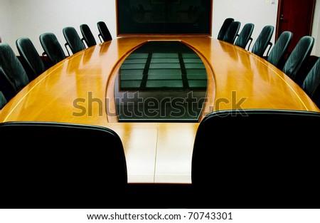 Blank meeting room