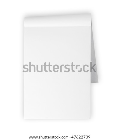 Blank Memo Pad Isolated On White Stock Photo 47622739 : Shutterstock