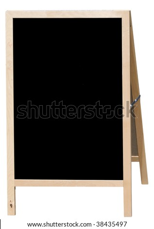 Blank menu board for restaurants