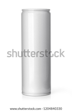 Blank metal aluminum beer or soda can isolated on white background.With clipping path #1204840330