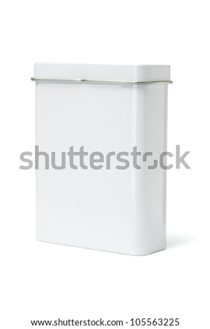 Blank Metal Container standing on White Background