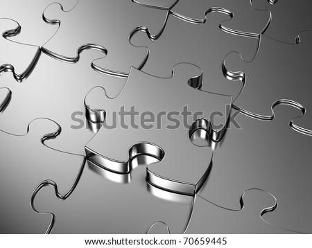 Blank metal jigsaw puzzle