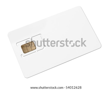 Blank mobile sim card