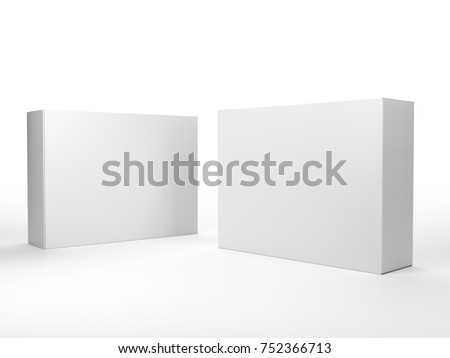 Blank mock-up box product isolated. 3D rendering #752366713