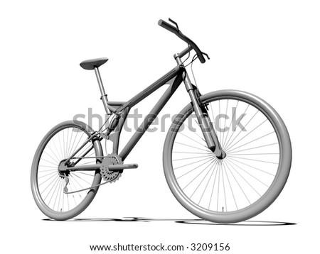 Mountain bike 9-speed cassette on white background - stock photo