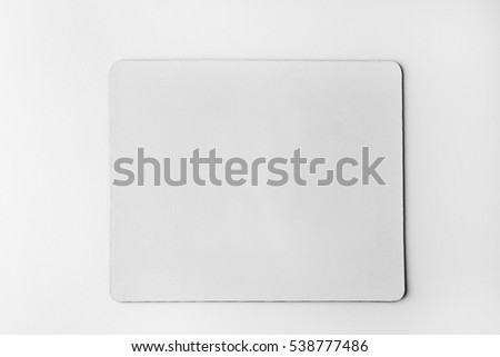 Blank mouse mat on white background #538777486