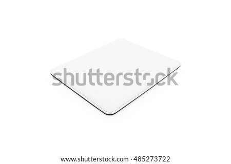Blank mouse pad on isolated background with clipping path. #485273722