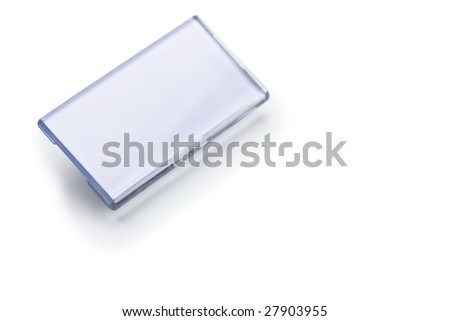 blank name tag isolated on white