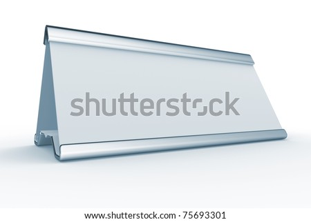 Blank nameplate over withe - T his is a 3d render illustration
