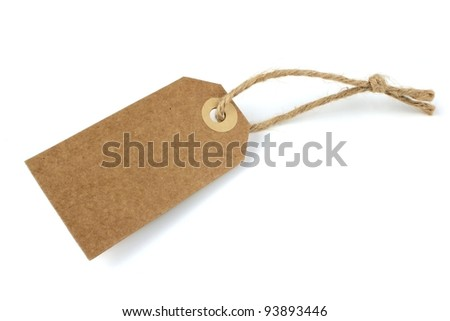Blank natural paper label