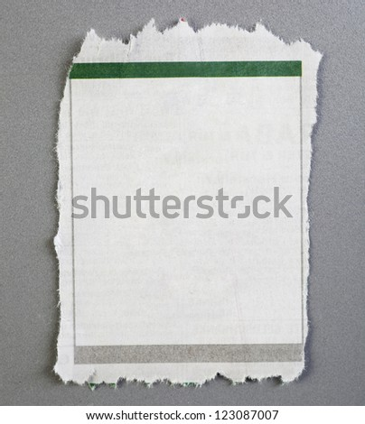 blank newspaper advertisement