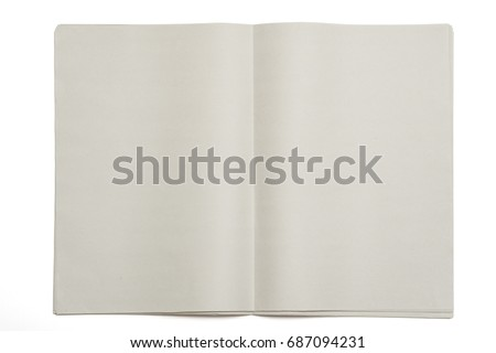 Blank newspaper on isolated background. #687094231