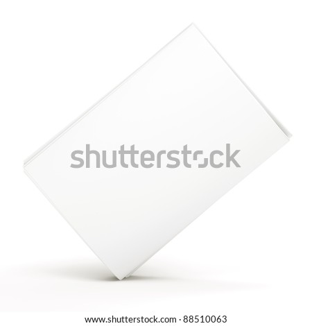 Blank newspaper on white background