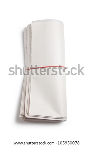 Blank Newspaper Roll with white background