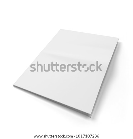 blank newspaper template 3d illustration isolated on white