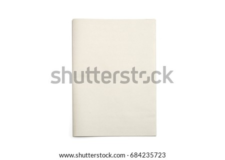 Blank Newspaper with isolated background.