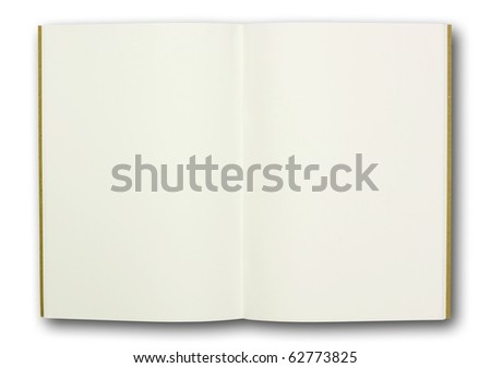 blank note book, isolated