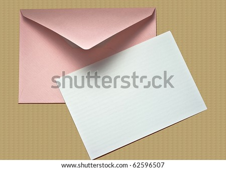 Blank Note Card and Envelope #62596507