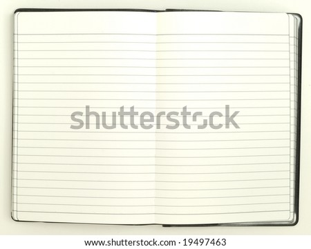 blank note pad