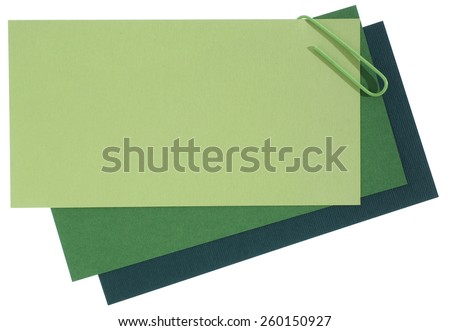 Blank note papers connected with staple