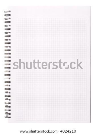 Blank note [with clipping path]