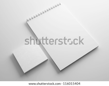 Blank Notebook isolated on white #116015404