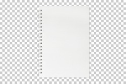 blank notebook mock up isolated on transparent background with clipping path