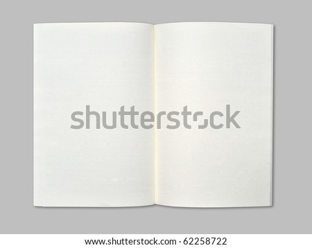 Blank notebook on middle gray  background.