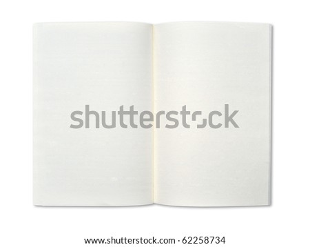 Blank notebook on white background.
