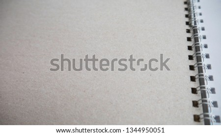 Blank notebook with blank place for text and notes