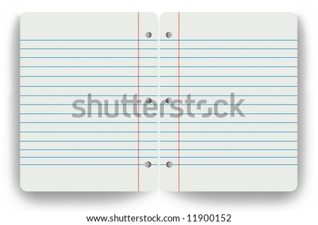 Blank notepad two 2 pages
