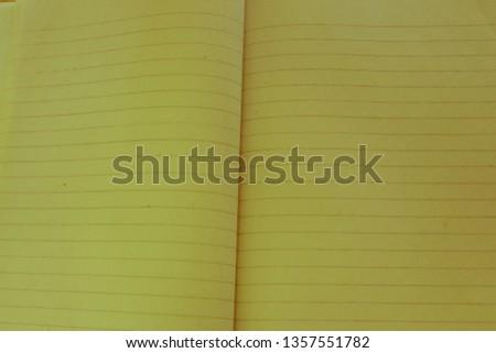 Blank of brochure