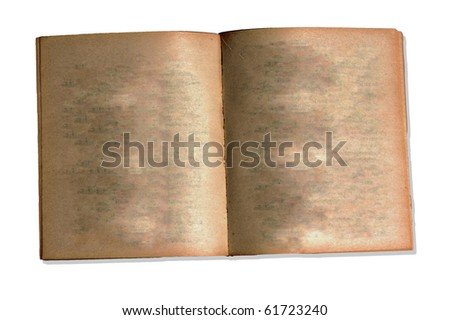 Blank of Old book open