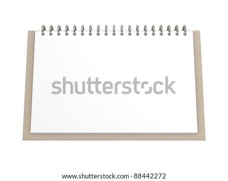 Blank office calendar